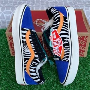 VANS COMFYCUSH OLD SKOOL ZEBRA Tldepoolsrt The WbW